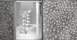 Etched glass cabinet