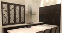 Cream & Brown swirls design kitchen