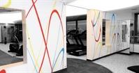Gym wall cladding